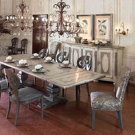 Arhaus Cerea 78 Rectangle Bell Arte Dining Table
