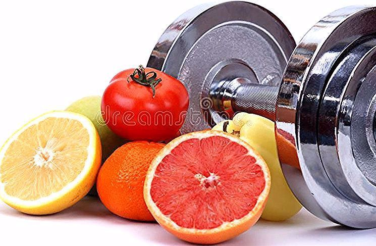 Fitness concept. Assorted fresh fruits and vegetables , fitness concept , #Sponsored, #Assorted, #co...