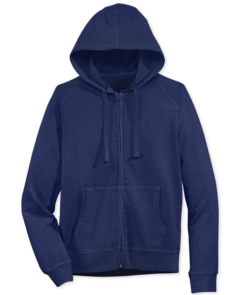 American Rag Mens Washed Camo Hoodie Sweatshirt