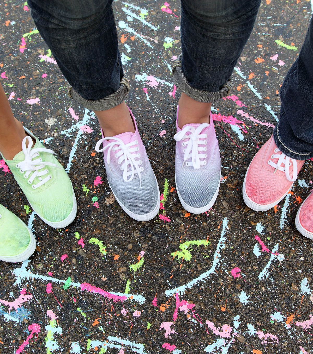 Steppin' Out in Style Ombre Dyed Sneaker