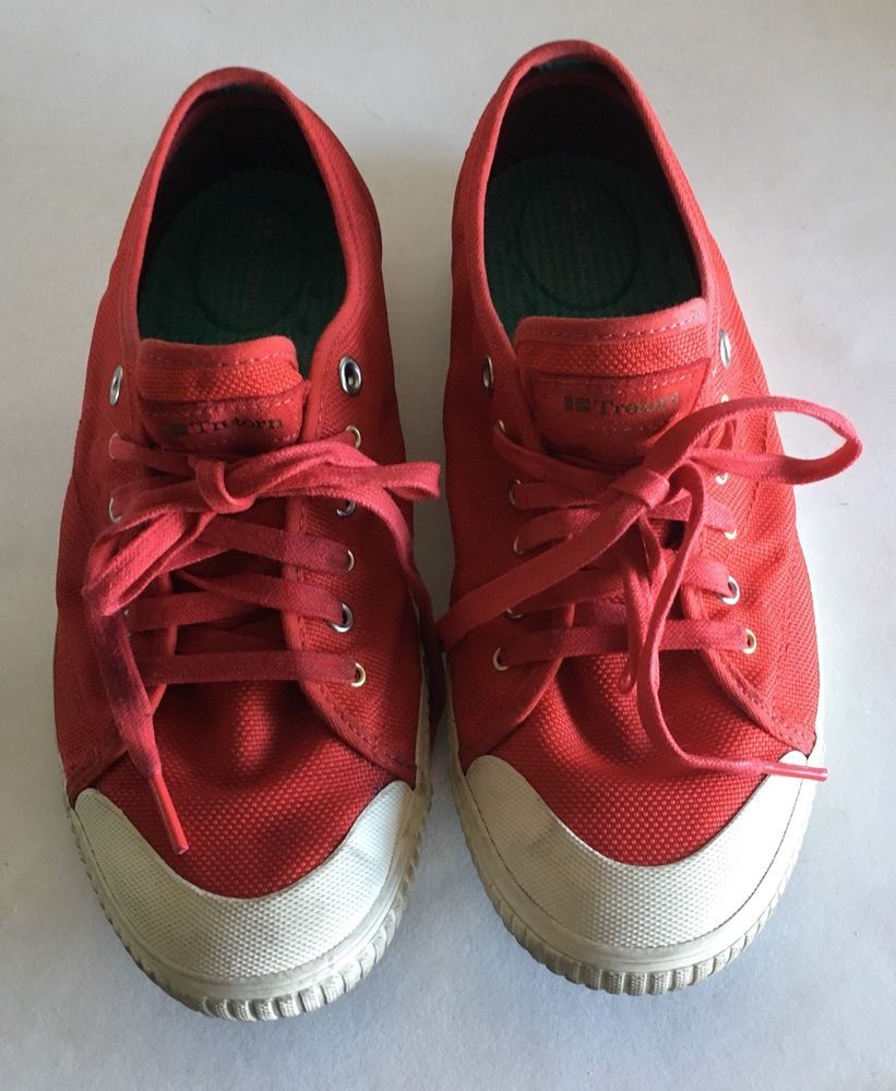 db1e75fb851 Tretorn Seksti Mesh Athletic Shoes Red White Womens sneakers size uS 10 EUR  41