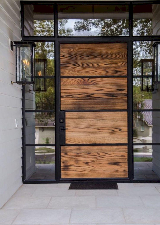 12 Charming Modern Front Door Design Ideas For Your Home Modern Exterior Modern Entrance House Exterior