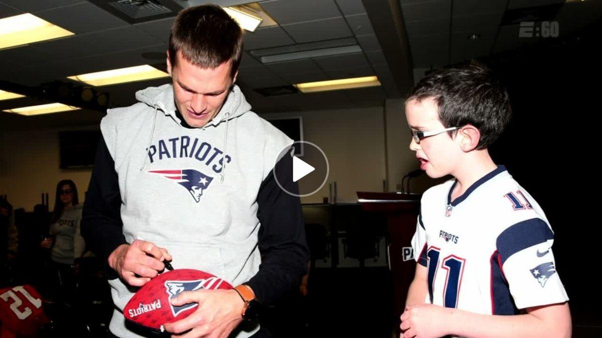Ten Year Old Patriots Fan S Special Bond With Tom Brady Espn Video Tom Brady Patriots Fans Cancer Patients