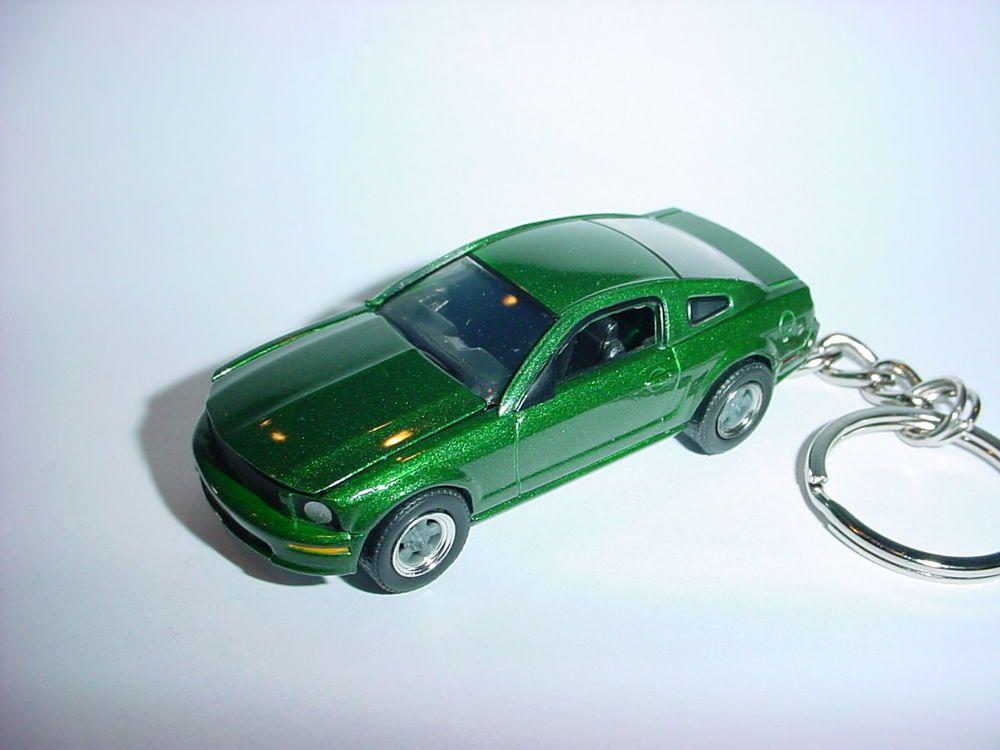 New 3d Green 2008 Ford Mustang Gt Custom Keychain Keyring 08