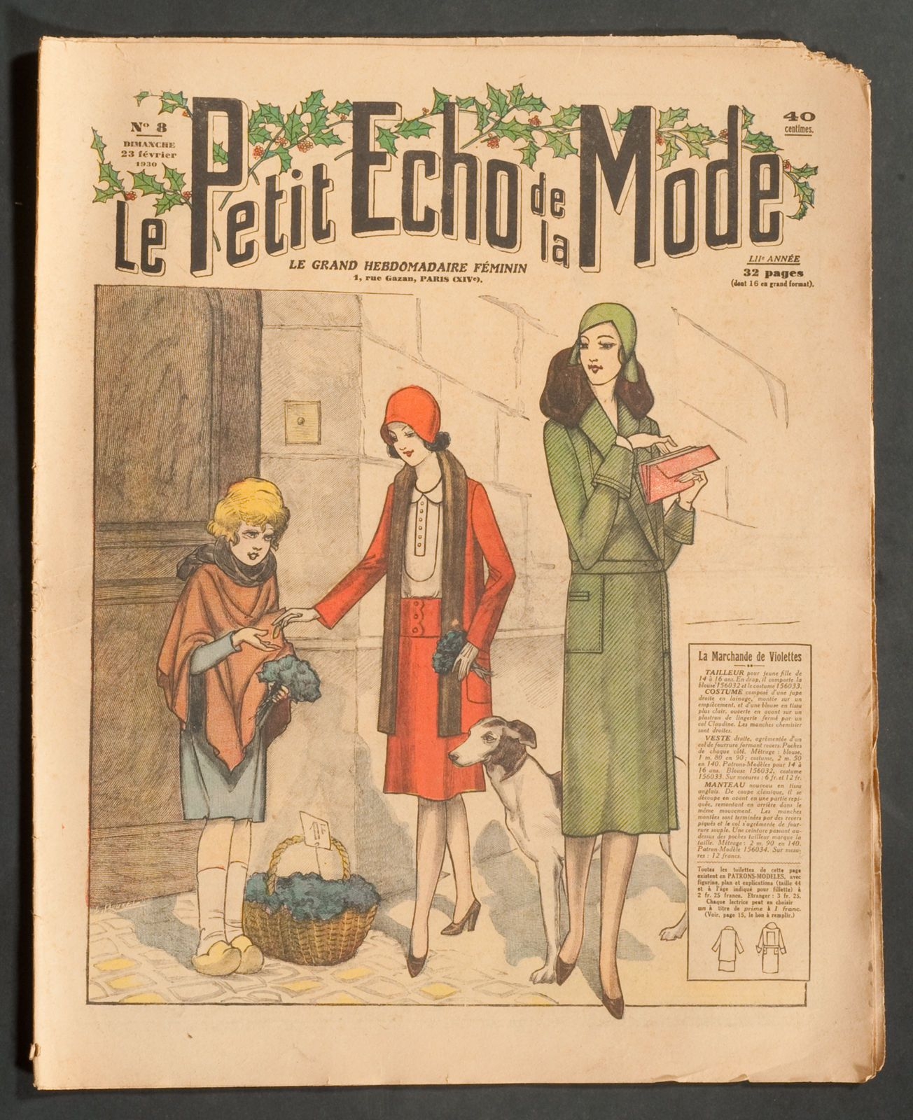ECHO DE LA MODE\' FRENCH VINTAGE NEWSPAPER 23 FEBRUARY 1930 | eBay ...