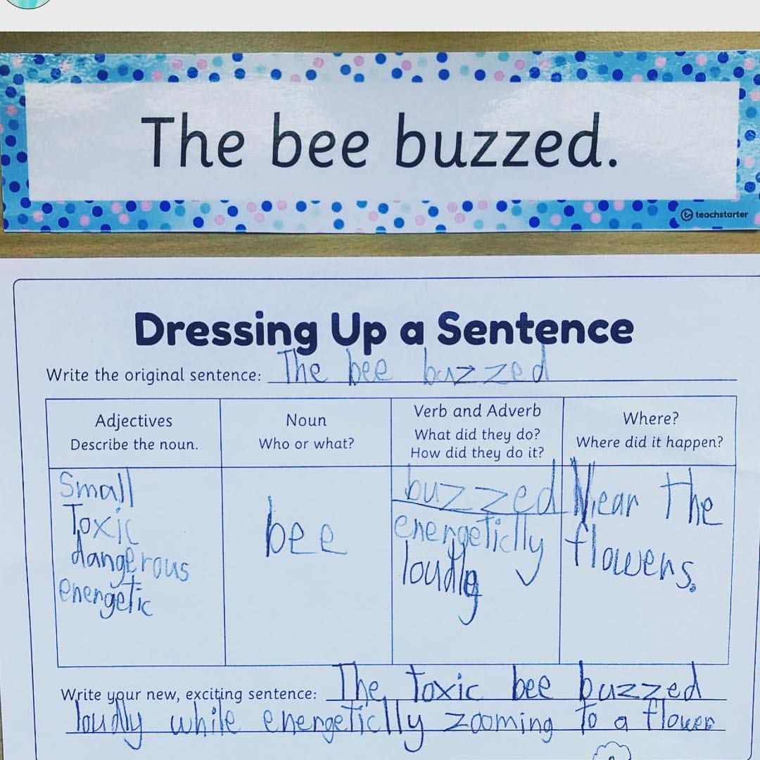 Teach Starter Dressing Up A Sentence Being Used To