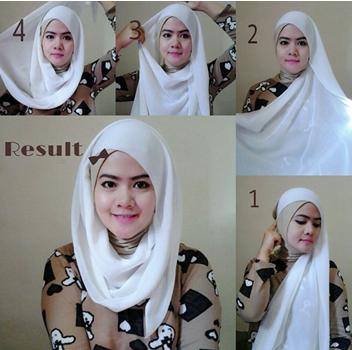 Gambar Tutorial Hijab Segi Empat Simple Terbaru Ragam Muslim