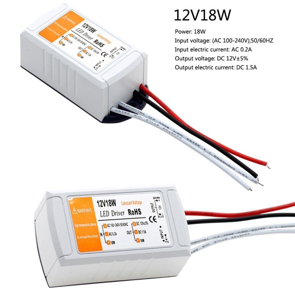 Dc 12v 18w Power Supply Lighting Transformer Led Driver Adapter Switch For Led Strips Led Lights Ce Rohs Power Supply Ligh Led Drivers Led Power Supply Led