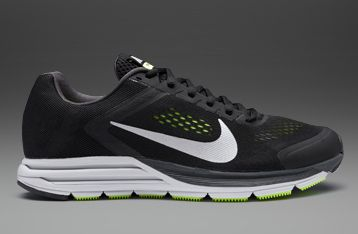 Nike Zoom Structure+ 17 Black/Metallic Silver-Volt - Mens Running Shoes
