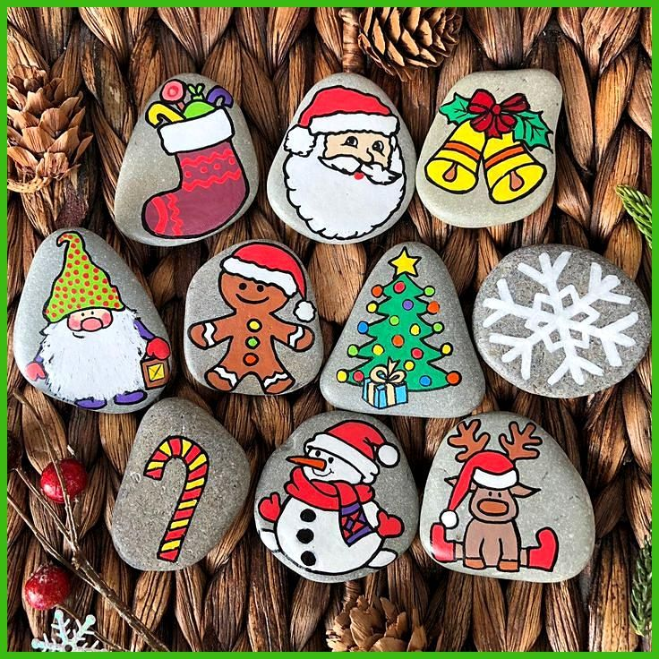 Christmas Story Stones Montessori Toy Gift for toddler 3year old toys Christmas story Storytelling Sensory toy Story rocks for kids Christmas Story Stones Montessori Toy...