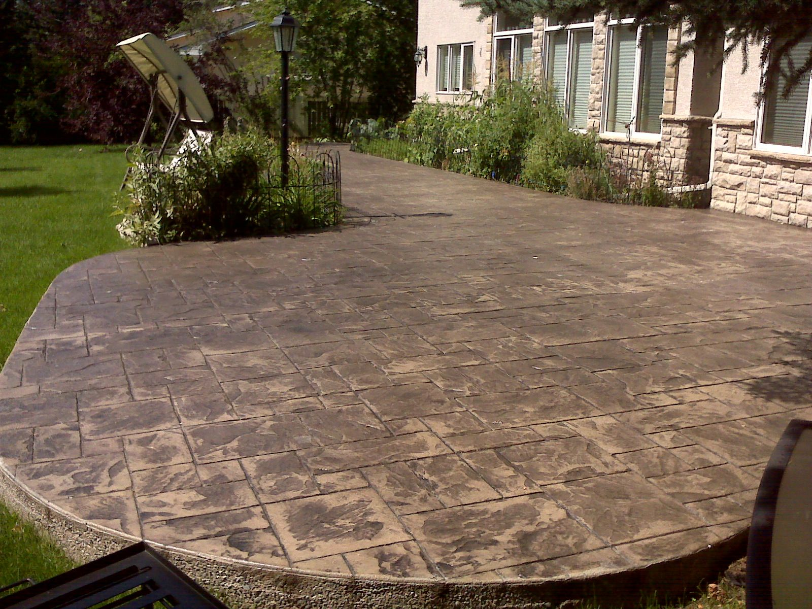 Cement Patio - Diego Decorative Concrete Patio Small Backyard Patio
