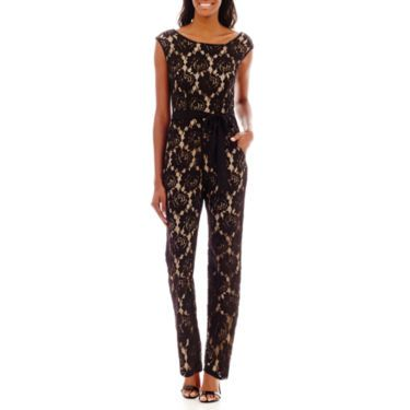 b3db6505775 J. Taylor Lace Jumpsuit with Sash Tie - JCPenney
