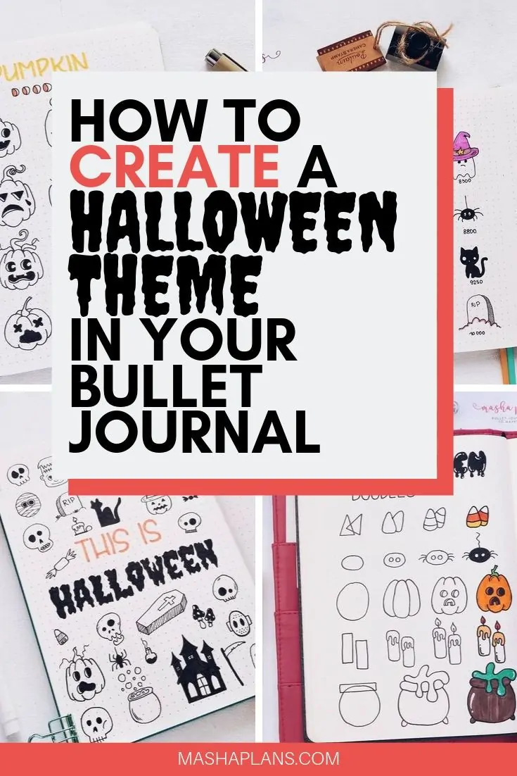 How To Create a Halloween Bullet Journal Theme #halloweenbulletjournal Got tons of Halloween Bullet Journal ideas - doodle tutorials, headers, Bullet Journal spreads. All the inspiration you need to create your own amazingly spooky Halloween Bullet Journal layouts. #mashaplans #bulletjournal #halloween #bujoideas #halloweenbulletjournal