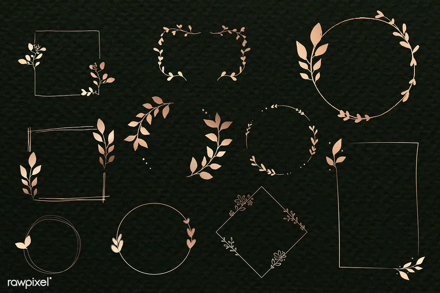 Photo of Download the premium vector of the doodle floral wreath vector collection 843821