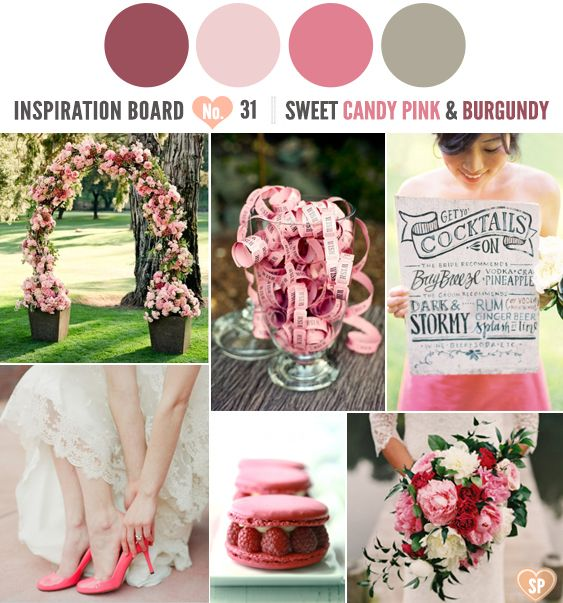 Loving this sweet candy pink and burgundy colour combination for a ...