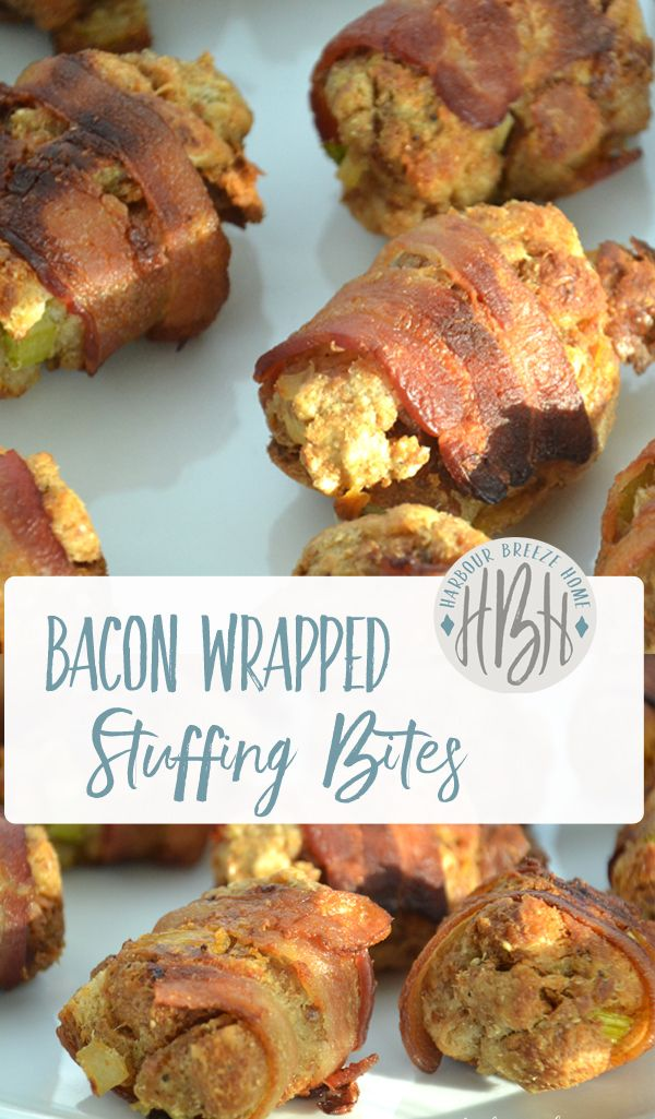 bacon wrapped stuffing bites christmas recipes thanksgiving recipes christmas side dishes thanksgiving appetizers - Christmas Side Dishes Pinterest