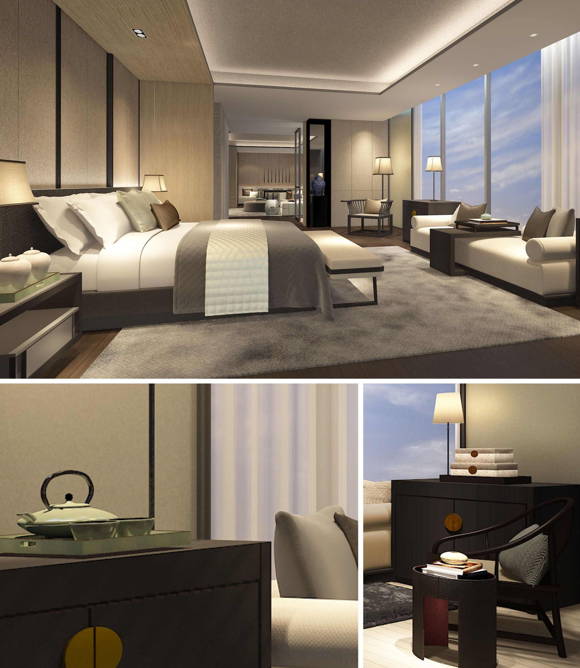 One Bedroom Apartment Layout Ideas Nautical Master Bedroom Decor Luxury Bedroom Lighting Bedroom Ideas Bachelor: SCDA Hotel & Mixed-Use Development, Nanjing, China