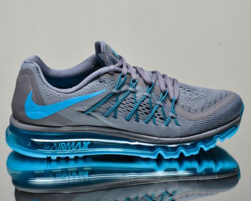 3ab952fa314f Nike Air Max 2015 men running run sneakers NEW cool grey blue lagoon ...