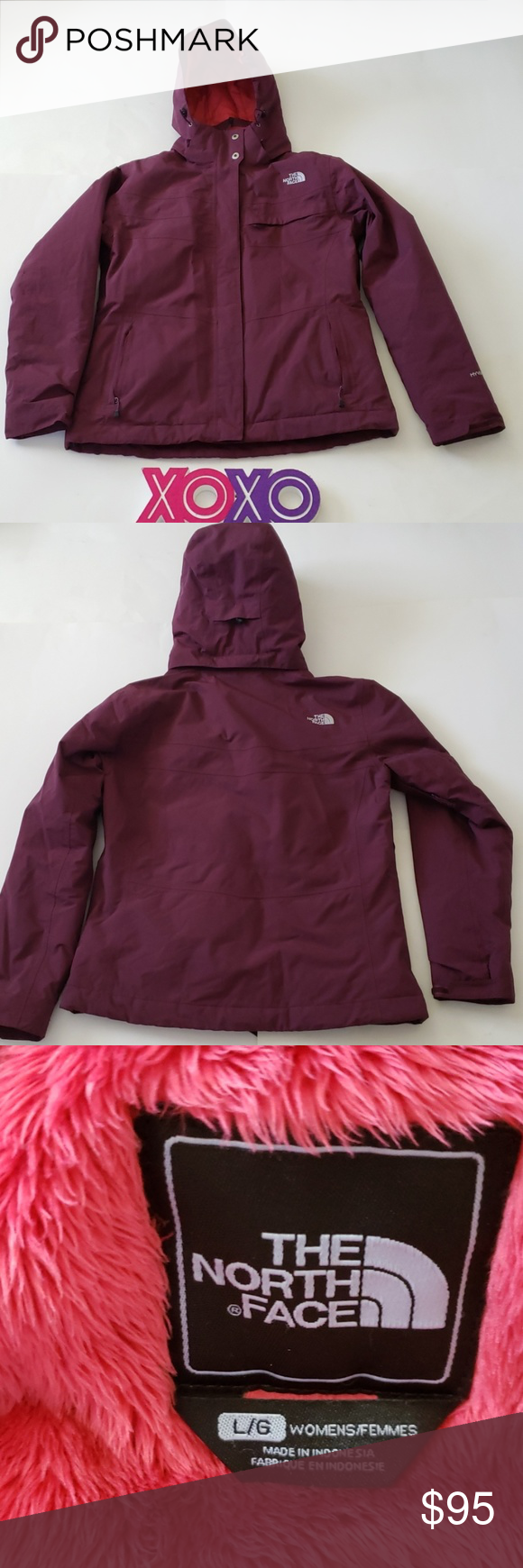 The North Face Hyvent Burgundy Winter Jacket Winter Jackets North Face Hyvent The North Face [ 1740 x 580 Pixel ]