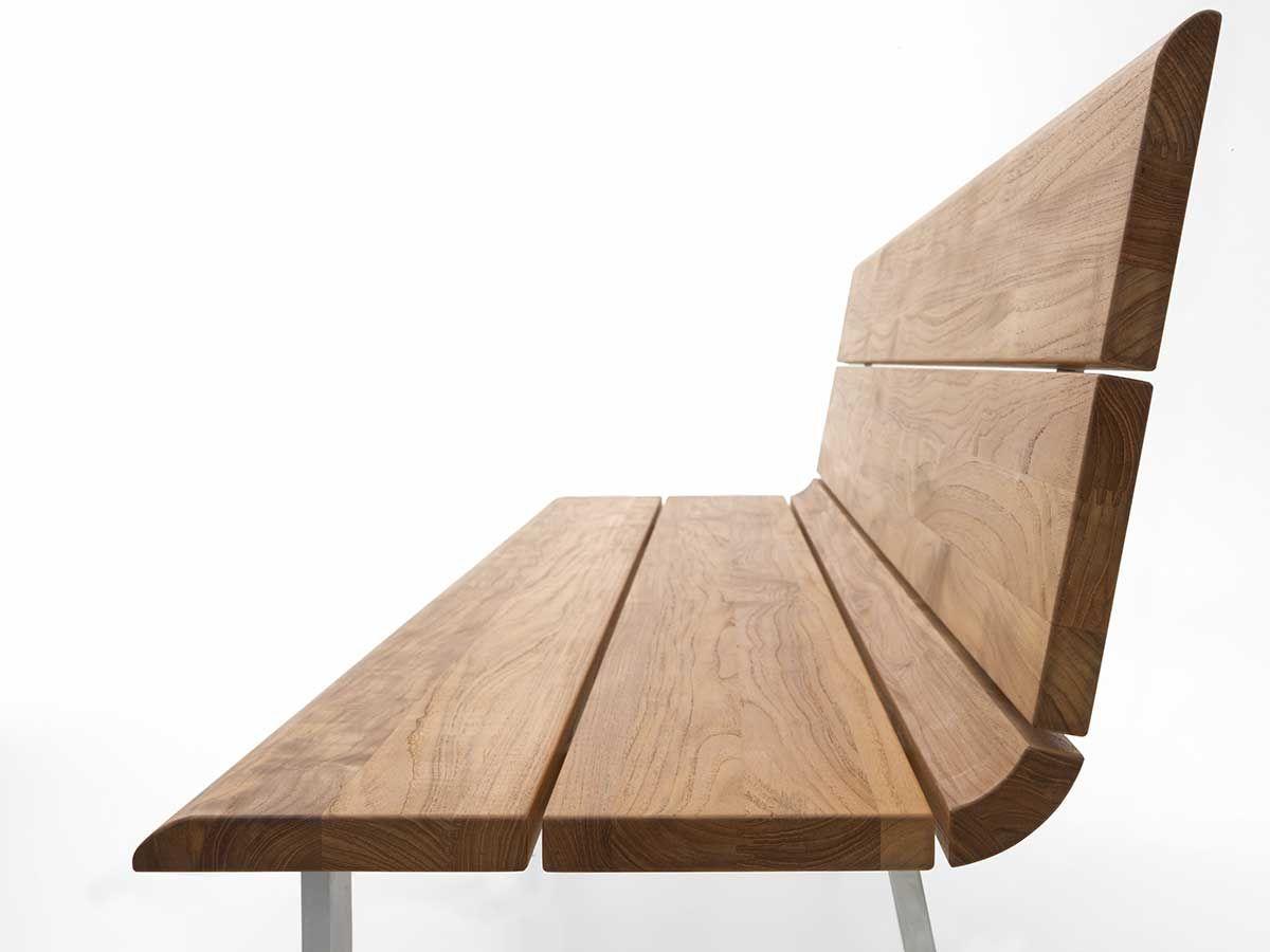 Gartenbank teak design  Niehoff Gartenbank Nova Edelstahl Teak-Recycled kaufen im borono ...