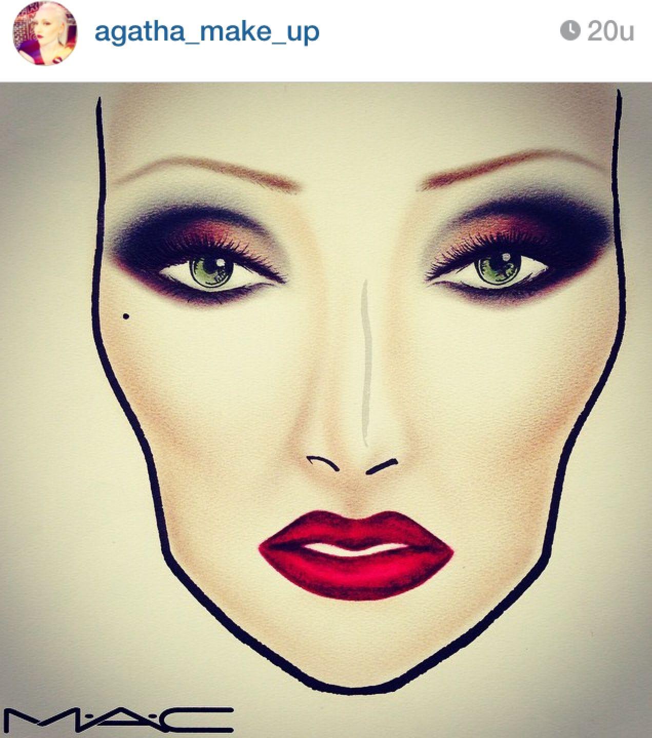 mac cosmetics facechart by agatha face chart
