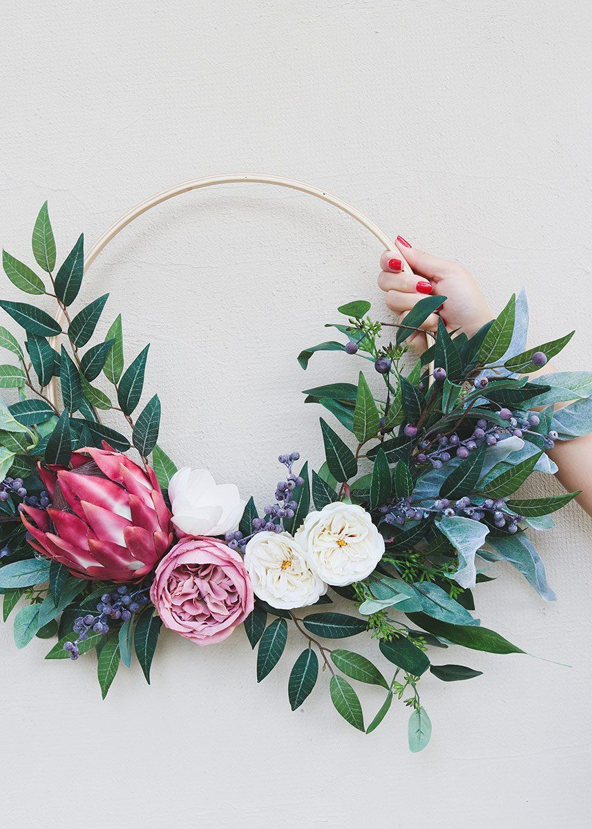 Traditional wedding decor ideas 2018  Wood Ring for Floral Hoops   in   say i do  Pinterest