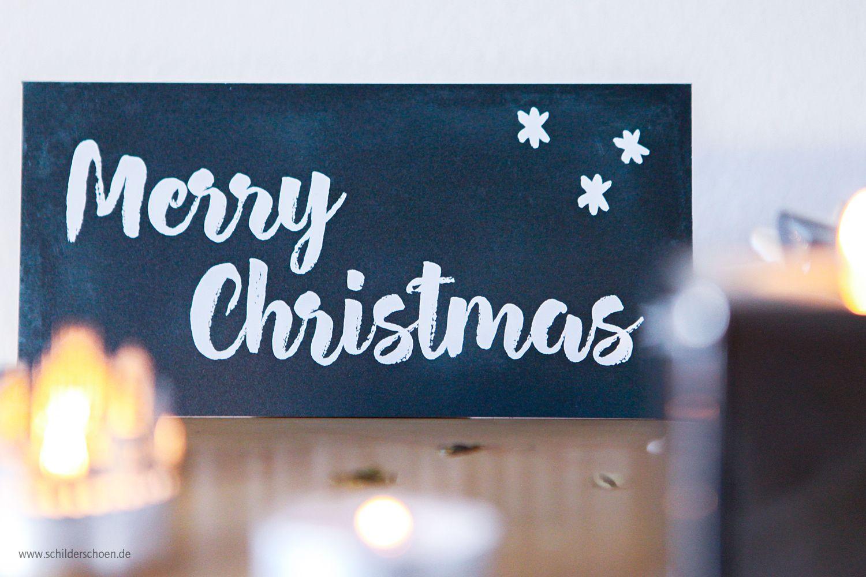 LED Weihnachtsschild Text Weihnachten Merry Christmas Schild Bild beleuchtet NEU