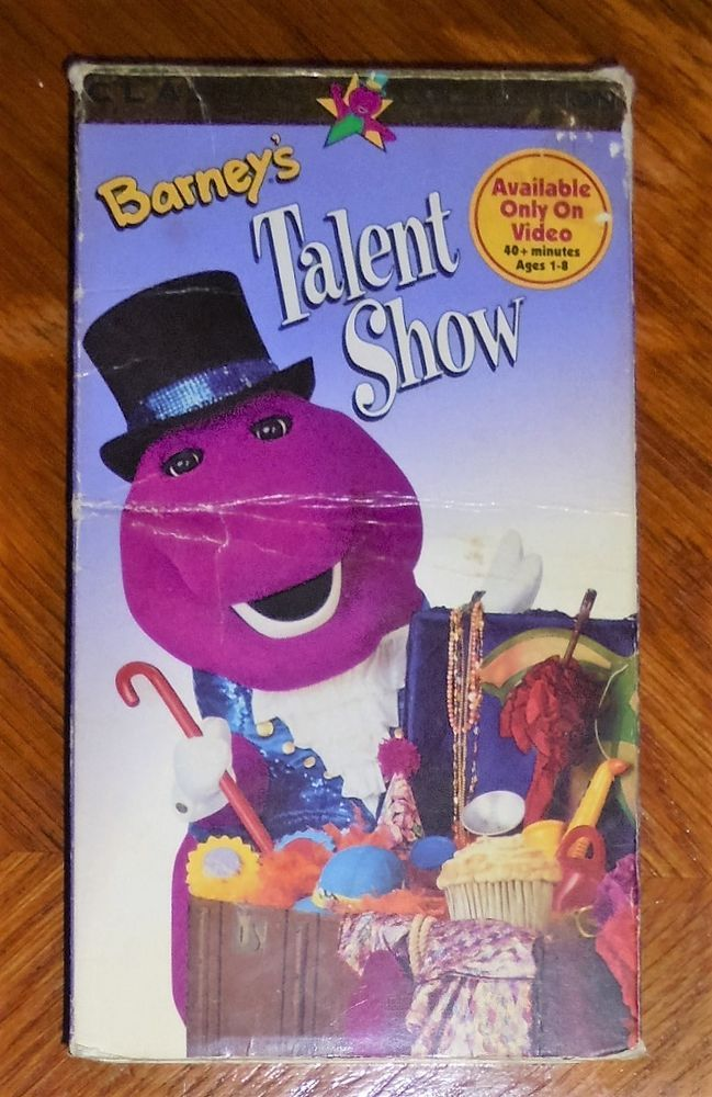 Barney Vhs Video Barney S Talent Show 1996 40 Minutes Ages 1 8