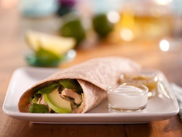 Ellie's Chicken and Bean Burrito Verde #Protein #Grains #Veggies #MyPlate