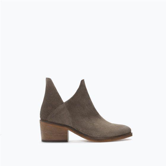 Cuña De Zara Botines Promoción Mujer Serraje Zapatos