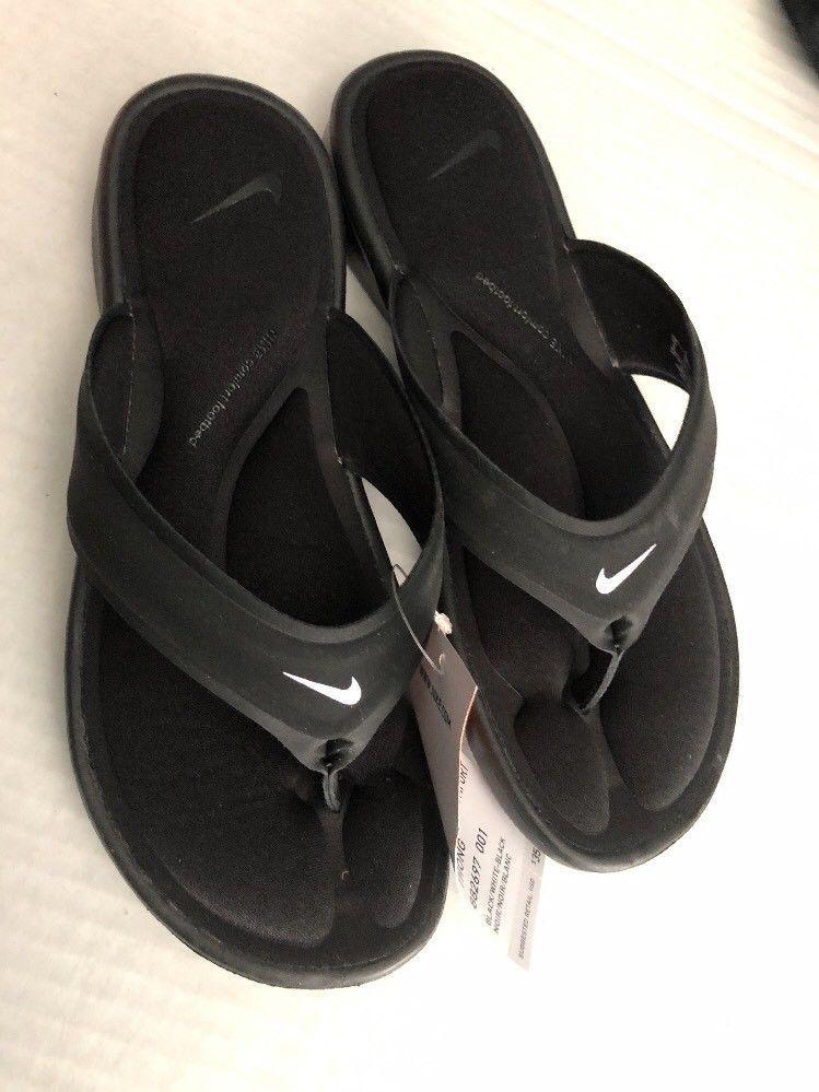 b518f679d61d NWT NIKE ULTRA COMFORT THONG Womens Flip Flops SZ 7 Sandals 882697 001 Black   fashion