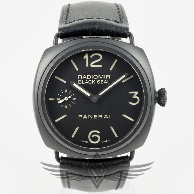 #Panerai PAM00292 Radiomir Black Seal 45mm Ceramic Case Black Dial Manual Wind Watch PAM292 #OCWatchCompany #WatchStore #WalnutCreek