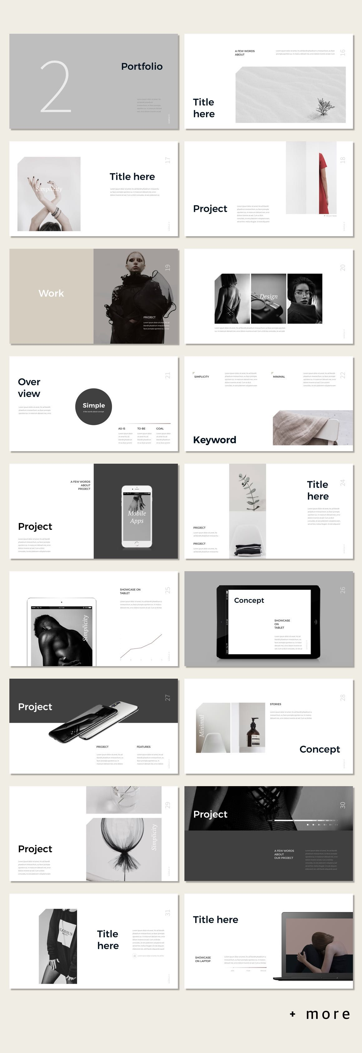 Simple P. PowerPoint Template | Layouts, Graphics and Design layouts