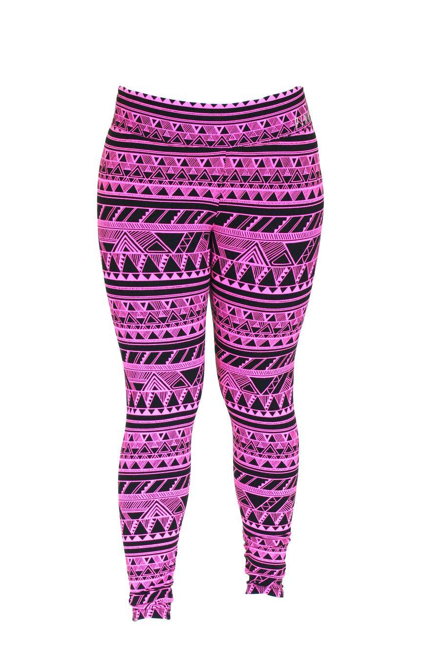 Victoria Secret Black and Pink Tribal Print Leggings | P I N K ...