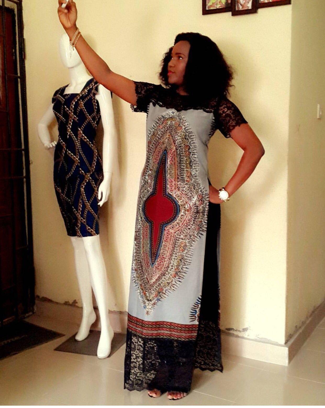 Dashiki Gown Trending Style Lastest African Fashion Nigeria Fashion African Fabric Longues