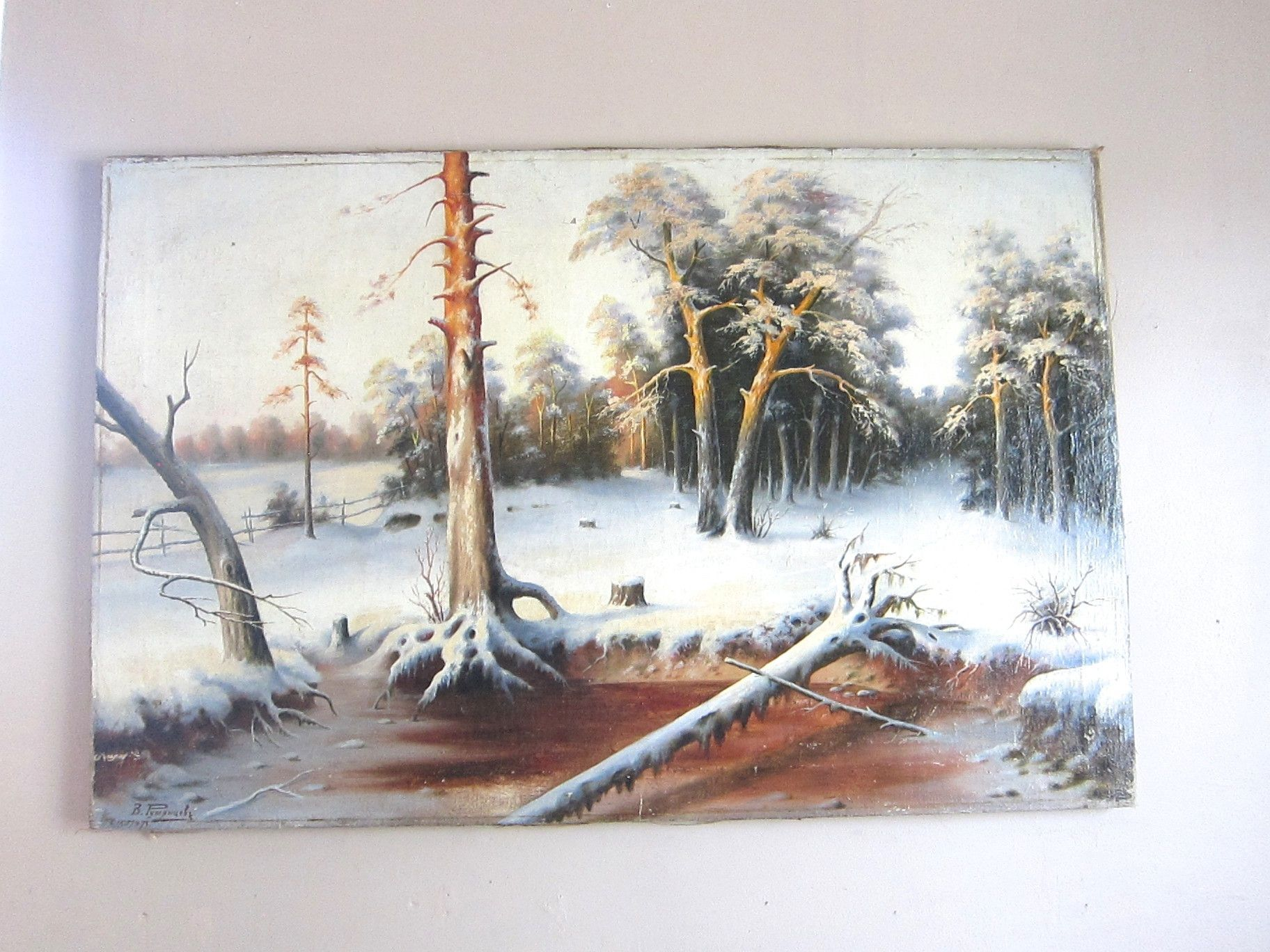 Oil on CanvasTree Painting by Russian Artist Rumyantzeff