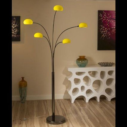 Modern Yellow Glass Standard / Floor Light / Lamp / Lighting Lounge ...