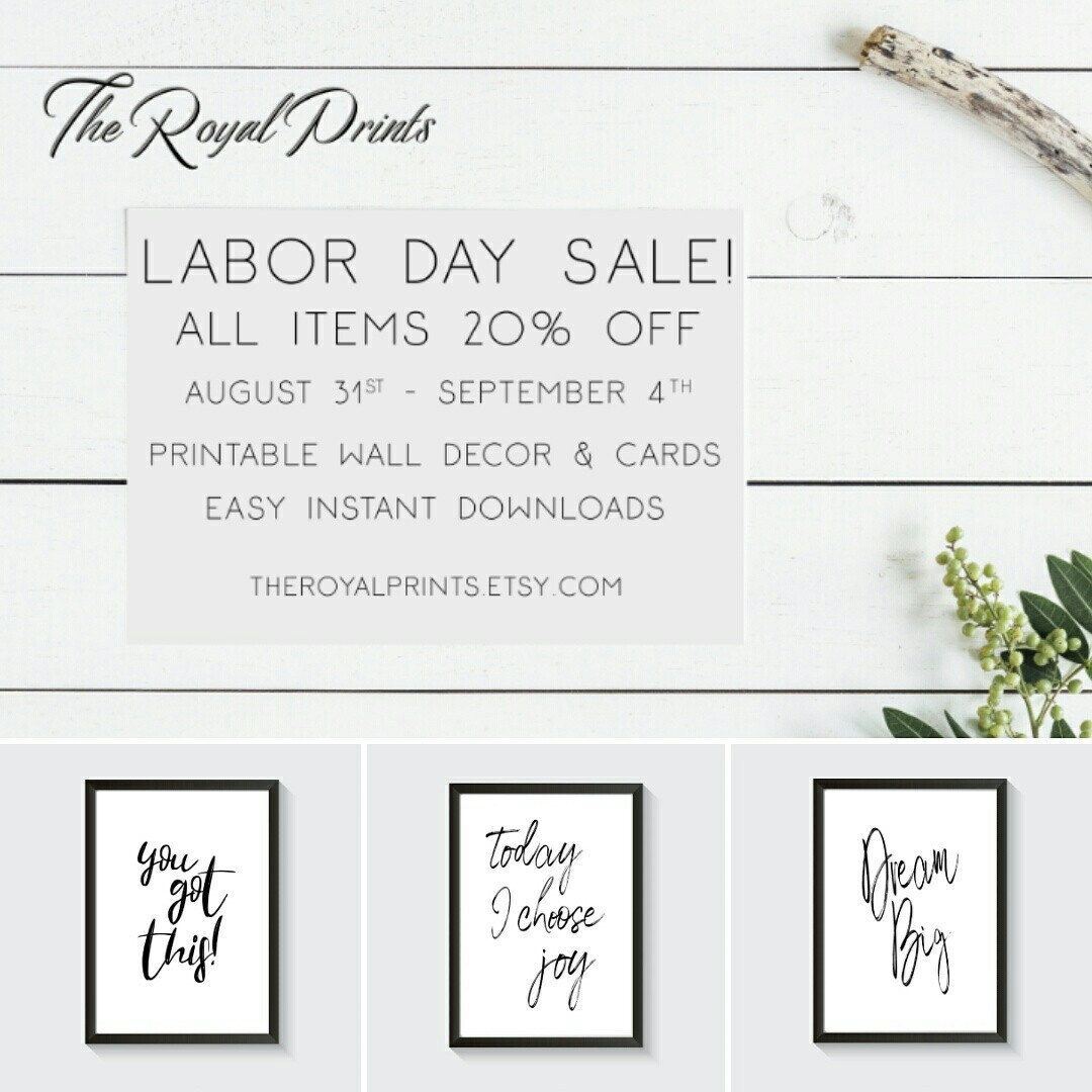 Labor Day sale! All items 20 off August 31st September