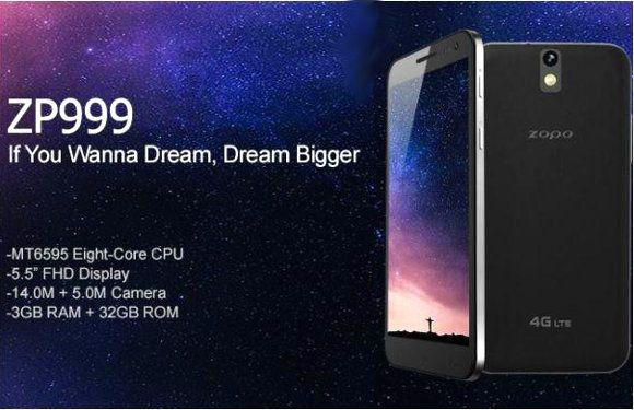 Zopo ZP999 embeds all the characteristics components of high-end smartphones. Between its 5.5 inch screen in 1080p, the processor with eight cores of Mediatek (with remarkable performances) and 3 GB of RAM, there is no doubt that Zopo wanted to design a smartphone to rival the greatest models last year ... Or even this year. Only weak point on the horizon, its battery is 2700 mAh slightly behind. phoneplanetgold@gmail.com