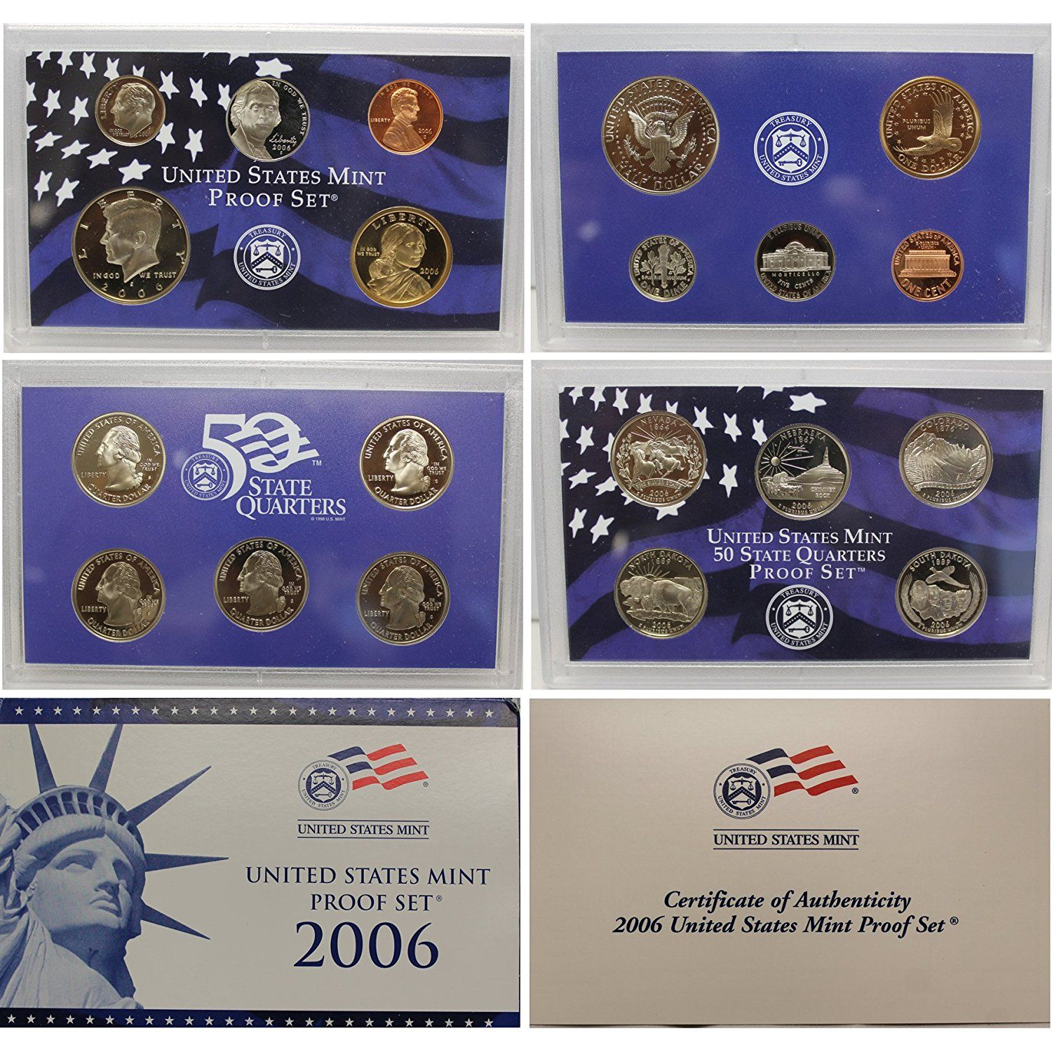 2004-S Proof Set US Mint Original Government Packaging Box /& COA United States