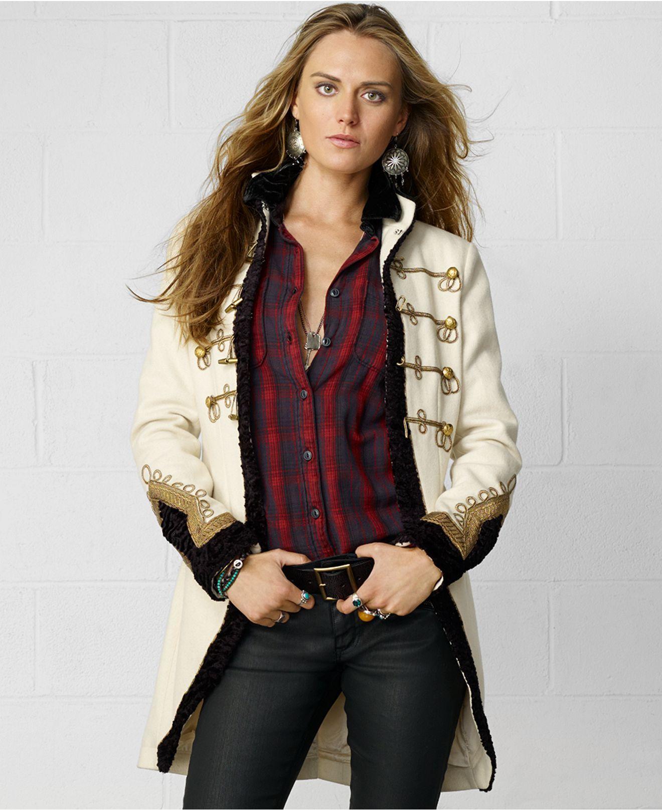 Denim Supply Ralph Lauren Coat Wool Military Coats Women Macy S Coats For Women Coat Women Fashion Military Jacket Women [ 1616 x 1320 Pixel ]