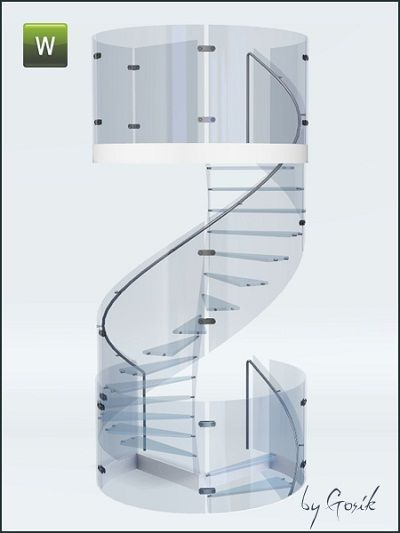 my sims 3 blog glass spiral staircase by gosik sims 4 pinterest sims 4 sims und wendeltreppe. Black Bedroom Furniture Sets. Home Design Ideas