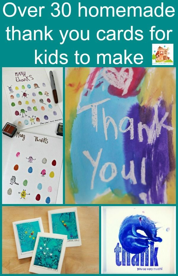 Homemade thank you cards for kids to make Homemade, Kids cards - thank you notes for teachers