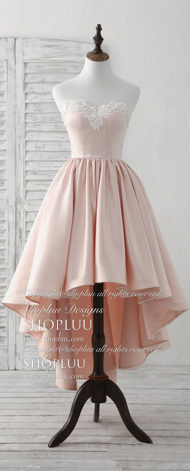 Pink sweetheart neck short prom dress pink homecoming dresses