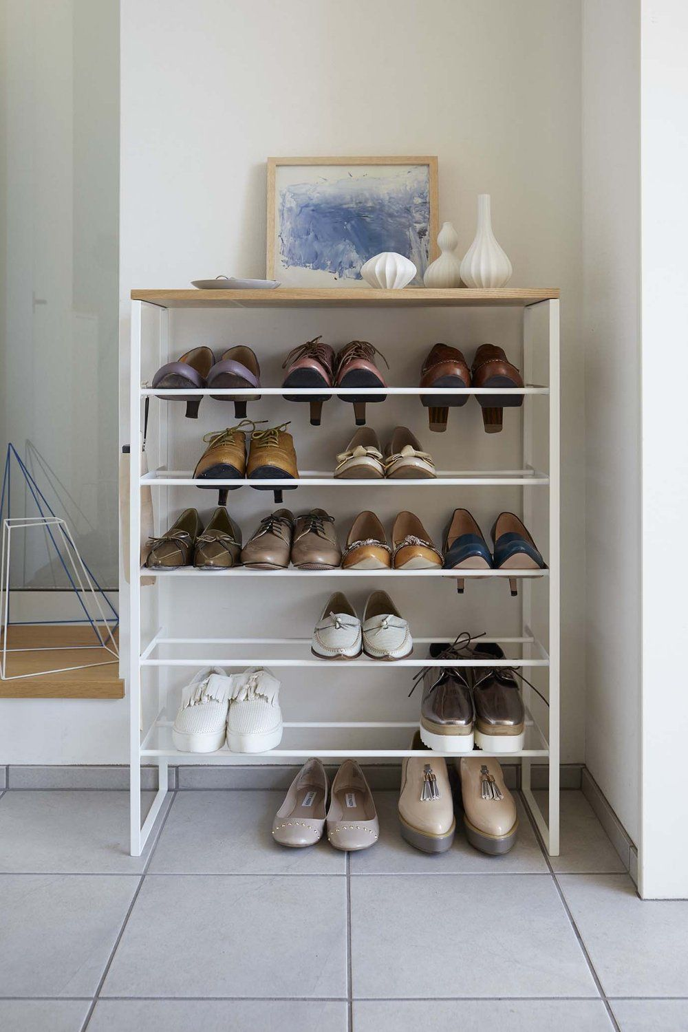 6 Tier Wood Top Shoe Rack In 2020 With Images Shoe Rack Shoe Rack For Sale Shoe Shelves