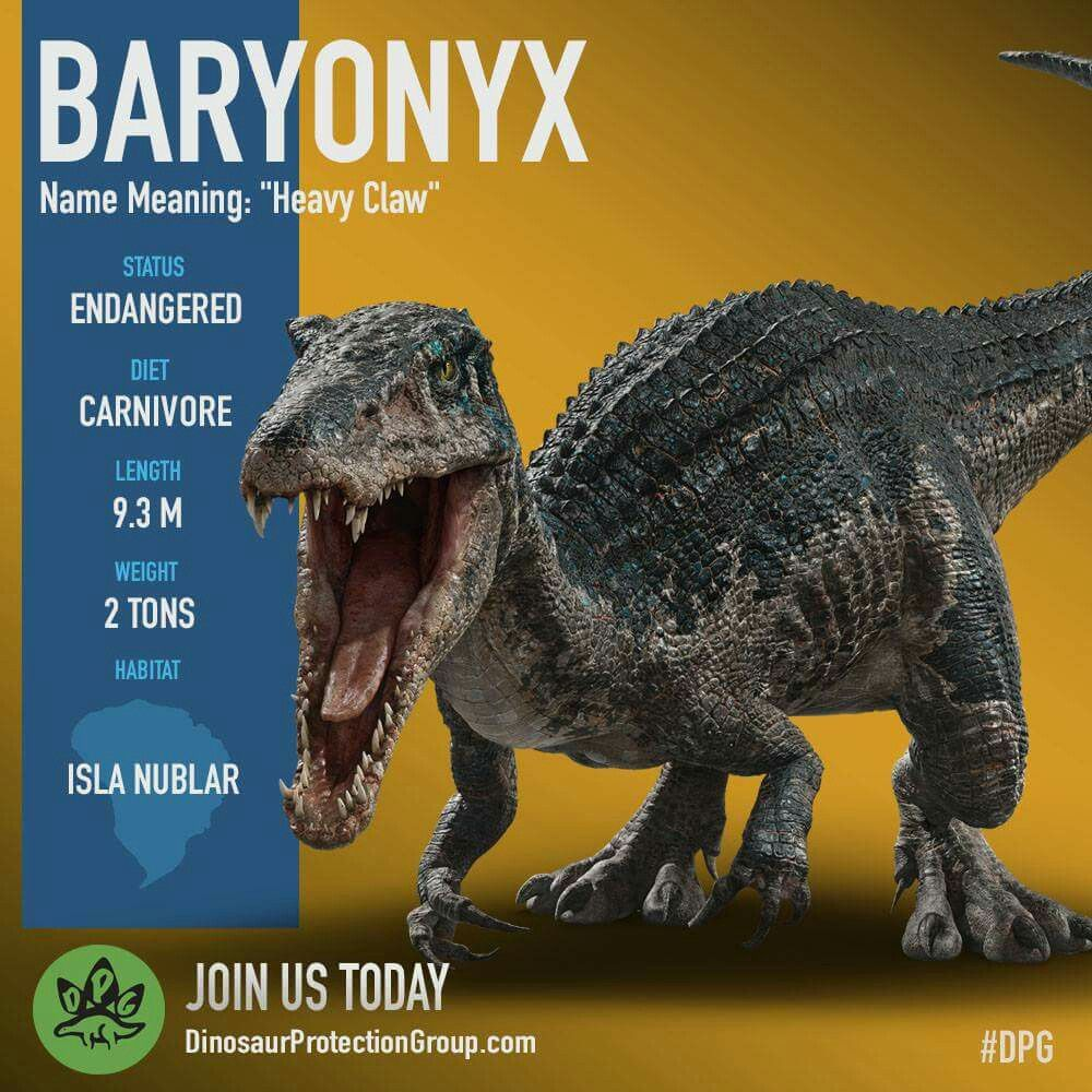 baryonyx  jurassic world dinosaurs jurassic park world