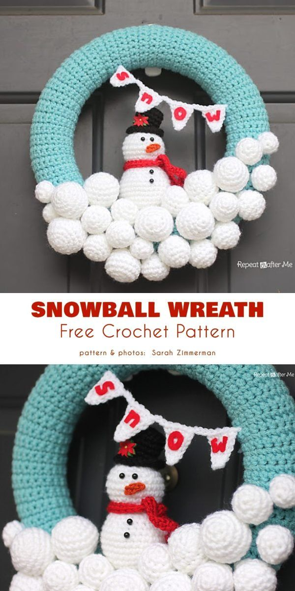 Photo of Winter wreath Free crochet patterns
