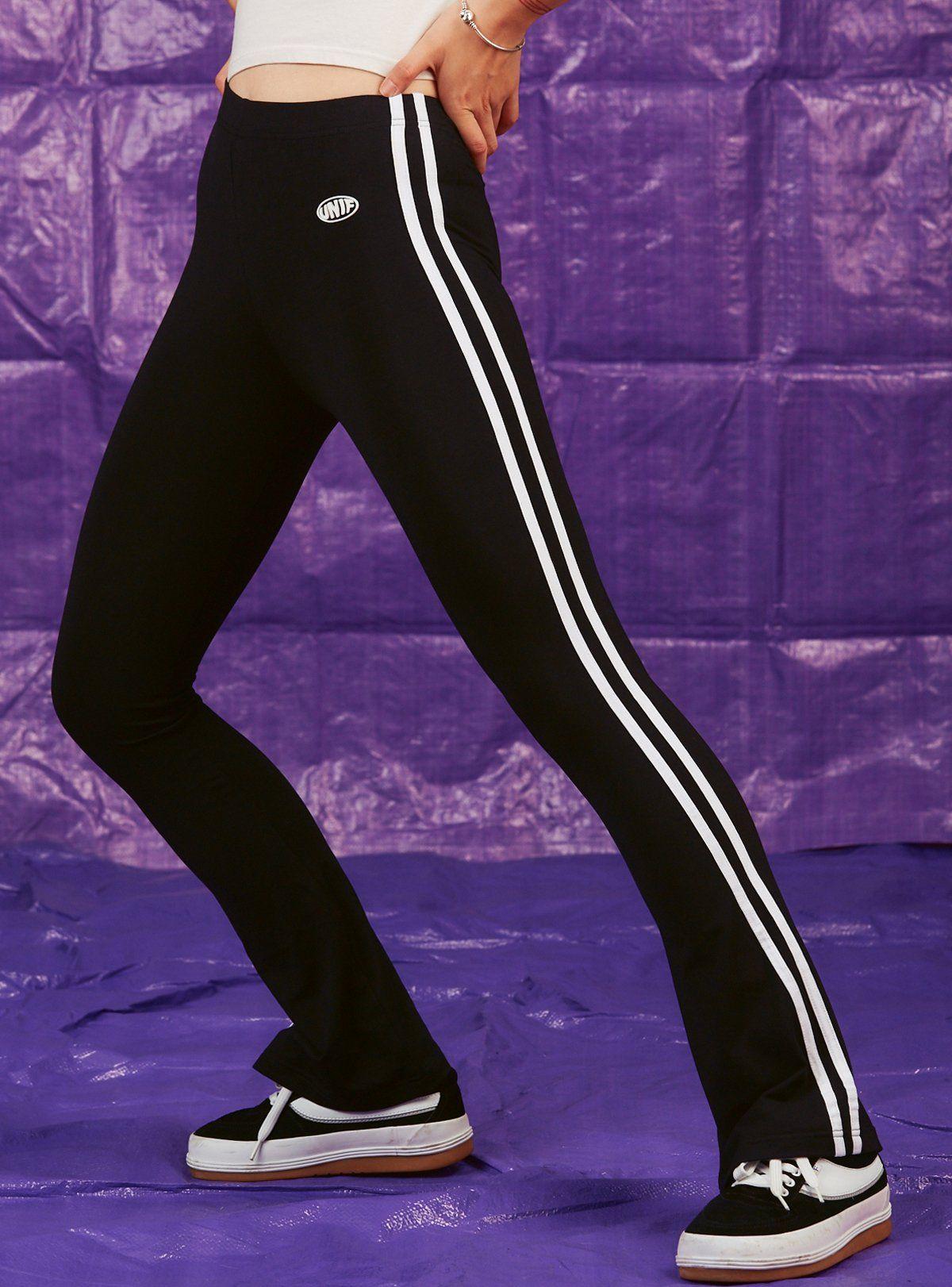 Track Pants In 2020 Black Flare Pants Pants Track Pants