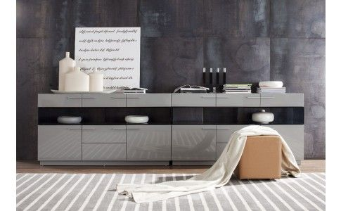 Daytona Buffet (High Gloss Grey) by VIG Furniture buffet and