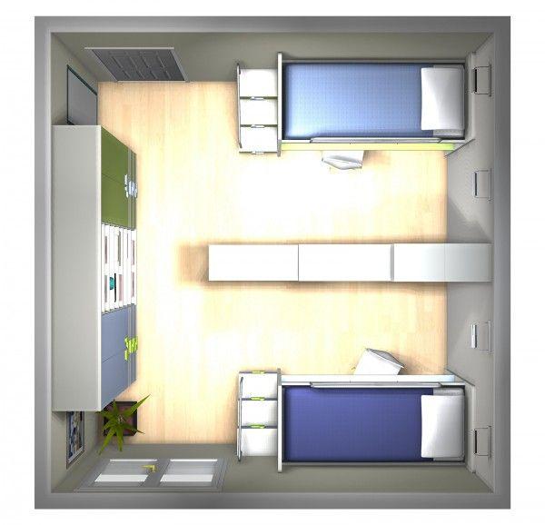 Come dividere la camera dei ragazzi in due parti for Progetto camera